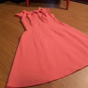 Vince Camuto pink dress size 8 sleeveless back zip